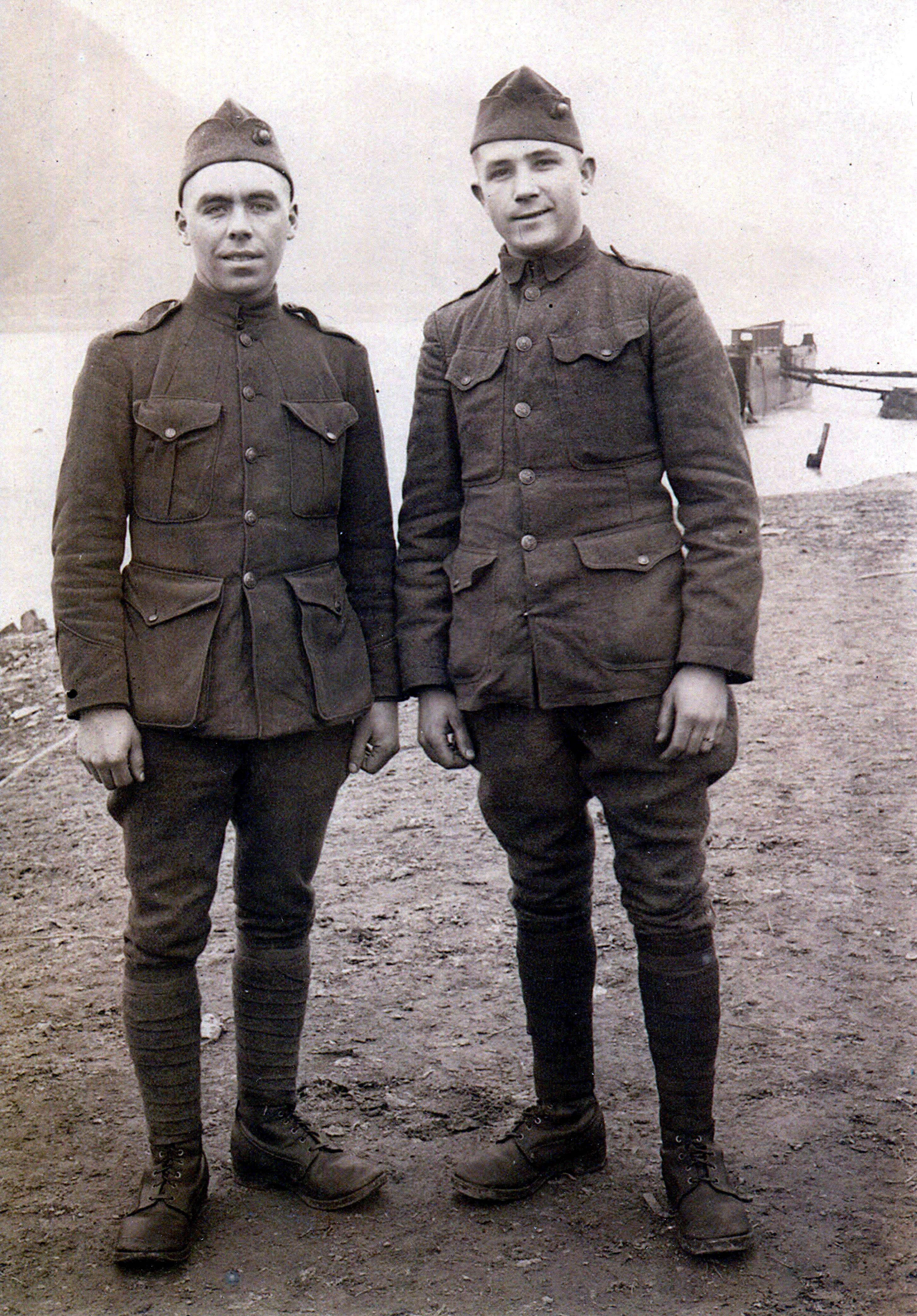 Private Raymond Reinke on left
